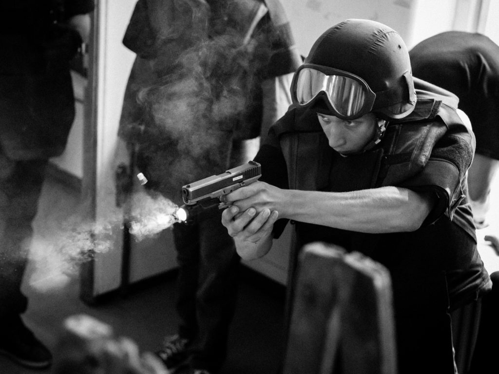 Polizei Stunt Training Wien Fighting for Film Cobra Glock WEGA