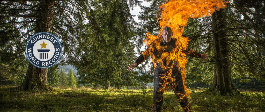 Guinness World Record GWR Body Burn Stunt Stuntman on Fire World Record Joe Toedtling Fighting for Film Stunt Factory Action Workshop Learn Stunt School Hero